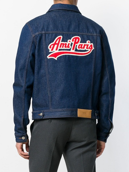 Back of Ami Paris denim jacket